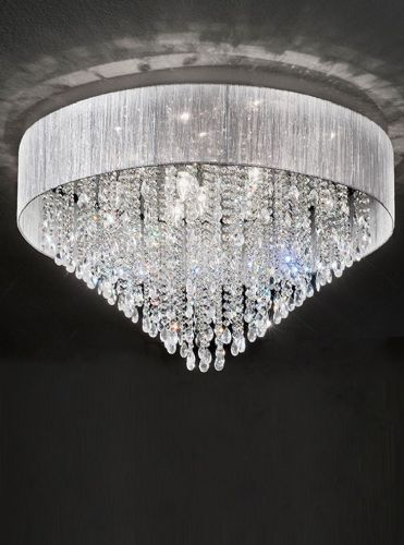 Franklite FL2281/10 Chrome Ceiling Light